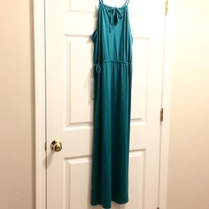 Covington Blue-green maxi dress